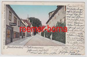 76279 Ak Neudietendorf Kirchenstrasse mit Bäckerei 1902