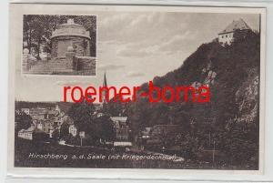 78430 Ak Hirschberg an der Saale mit Kriegerdenkmal um 1930