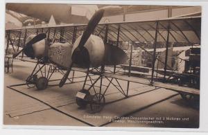 43190 Foto Ak Erbeuteter franz. Caudron-Doppeldecker um 1915