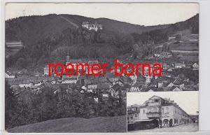 69040 Ak Bad Leutenberg Thür. und Haus Kacholdt (am Markt) 1916