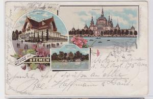 90435 AK Gruss aus Bremen - Bürgerpark Meierei & Kaffeehaus, Parkhaus 1901