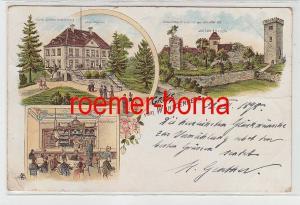 81859 Ak Lithographie Gruß vom Wohldenberg mit Hotel 1898
