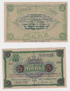 5 Mark Banknote Notgeld der Stadt Frankfurt a.O. 1.12.1918 (119263)