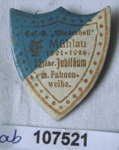 Altes Papp Abzeichen Gesangverein Mühlau 1926 (107521)