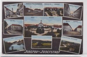 91992 AK Josefov (Josefstadt) - Paradeplatz Zeughausgasse Promenade & Hotel 1918