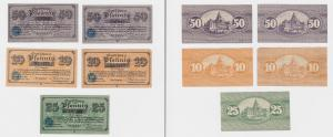 5 Banknoten Notgeld Stadt Recklinghausen 1920 (120201)