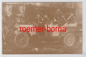 81383 Fotomontage Ak deutsche Soldaten in PKW 1911