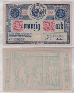 20 Mark Banknote Kriegsnotgeld Städte Ruhla 20.11.1918 ohne Aufdruck (119924)