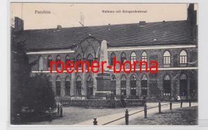 81601 Ak Parchim Rathaus mit Kriegerdenkmal 1911