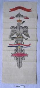 Seltener alter handkolorierter Stich Frankreich um 1800 (118898)