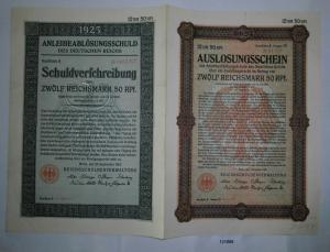 12,50 Mark Aktie Reichsschuldenverwaltung Berlin 25.September 1925 (131888)