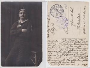 69293 Foto Feldpost Ak Marine Flieger Abteilung Borkum 1915