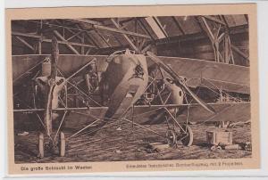 43251 Ak Die große Schlacht im Westen: erbeutetes franz. Bombenflugzeug um 1915