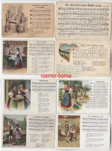 82244 / 8 Lied Ak in erzgebirgischer Mundart um 1920