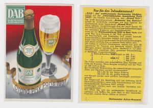 83808 Reklame Ak DAB Dortmunder Actien-Brauerei Bier Pils um 1939