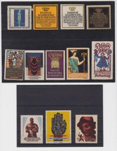 12 seltene Vignetten zu Bayerischen Ausstellungen München 1910-1927 (94559)