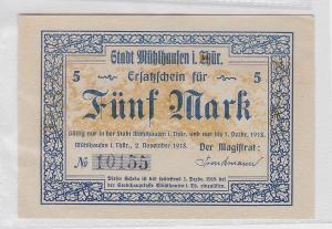 5 Mark Banknote Stadt Mühlhausen in Thüringen 2.11.1918 (118858)
