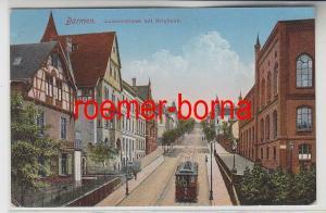 76844 Feldpost Ak Barmen Louisenstraße mit Bergbahn 1918