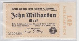 10 Milliarden Mark Banknote Stadt Cottbus 24.10.1923 (118839)