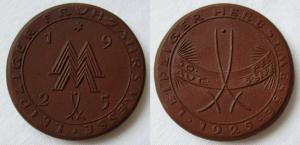 Seltenes Porzellan Abzeichen Leipziger Frühjahrsmesse 1925 (125558)