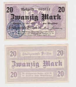 20 Mark Banknote Stadtgemeinde Dirschau Tczew 15.11.1918 (119114)