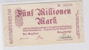 5 Millionen Mark Banknote Stadt Liegnitz Legnica 28.08.1923 (118804)