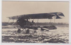 75450 Foto Ak  Aviatik-Doppeldecker der deutschen Fliegertruppe um 1915