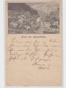 89133 Vorläufer Ak Gruß aus Unterschönau Totalansicht 1896