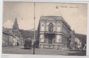 93812 Feldpost Ak Pepinster Belgien Hotel de Ville mit Strassenbahn 1915