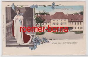 81870 Mehrbild Ak Gruss aus Alexandersbad Wonsitz Königing Luise um 1900