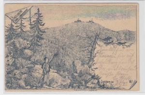 74546 Vorläufer Ak Inselsberg 916 Meter über dem Meeresspiegel 1891