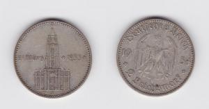 2 Mark Silber Münze 3. Reich Garnisonkirche mit Datum 1934 J Jäger 355 (120046)