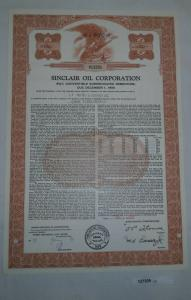 1000 Dollar Aktie Sinclair Oil Corporation New York 1. Dezember 1968 (127305)