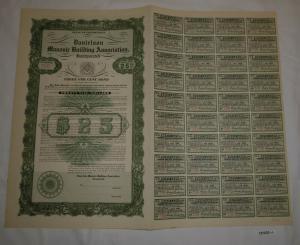 25 Dollar Aktie Danielson Masonic Building Association 1. Januar 1927 (127033)