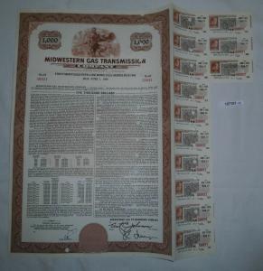 1000 Dollar Aktie Midwestern Gas Transmission Company Delaware 1960 (127151)