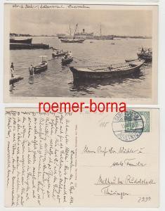69637 Ak Deutsch-Ost-Afrika Dar-es-Salaam Hafenbild gelaufen 1912