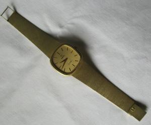 Mechanische OMEGA de Ville Herren Armbanduhr mit Armband 585er Gold (118997)