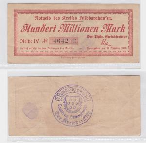 100 Millionen Mark Banknote Kreis Hildburghausen 16.Oktober 1923 (119881)