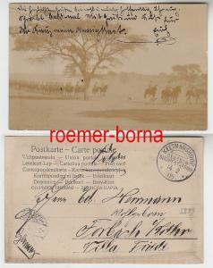 38111 Foto Ak Deutsch-Südwestafrika Schutztruppe mit Stempel Keetmanshoop 1905