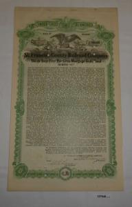 500 Dollar Aktie St. Francois County Railroad Company 1. Oktober 1910 (127646)