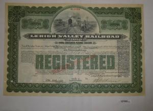 1000 Dollar Aktie Lehigh Valley Railroad State of Pennsylvania Jan 1931 (127652)