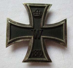 Seltenes Preußen Eisernes Kreuz 1870 1. Klasse Hersteller I.Wagner & S. (119534)