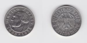 2 Mark Silber Münze Martin Luther 1933 G Jäger 352 (130638)