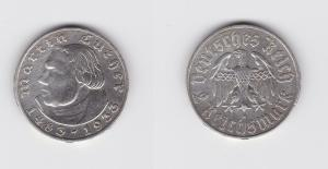 2 Mark Silber Münze 3.Reich Martin Luther 1933 A (135458)