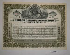 Stückaktie Hudson & Manhattan Railroad Company ungezeichnet (127674)