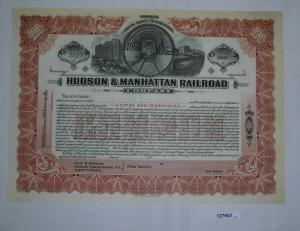 100 Stück Aktie Hudson & Manhattan Railroad Company ungezeichnet (127667)
