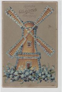 63663 Herzlichen Glückwunsch zum Geburtstag Ak Windmühle 1910