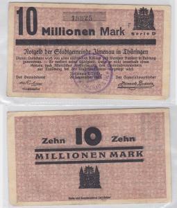 10 Millionen Mark Banknote Stadtgemeinde Ilmenau 29.September 1923 (119964)