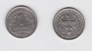 1 Mark Nickel Münze 3.Reich 1936 E, Jäger 354 (131157)