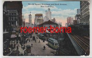 82371 Ak New York City Herald Square, Broadway & Sixth Avenue um 1920